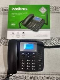 Telefone Celular Fixo, Intelbras CF 6031, Preto