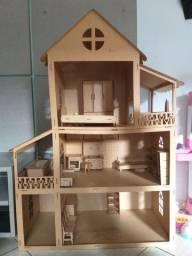 Casinha de boneca de MDF grande