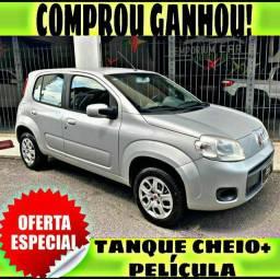 TANQUE CHEIO SO NA EMPORIUM CAR!!! FIAT UNO VIVACE 1.0 ANO 2014 COM MIL DE ENTRADA
