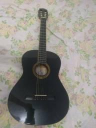 Vende-se violão preto acústico