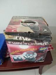 Vendo PS2 + Volante com Pedal