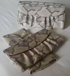3 carteira em couro sintético
