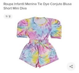 Vendo conjunto infantil Tie Dye novo, nunca usado