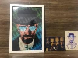 Vendo pôster do Heisenberg com dois pôsteres pequenos
