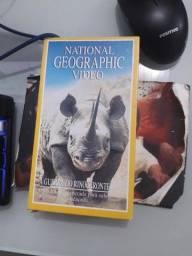 VHS National Geographic A Guerra do rinoceronte - não aceito troca