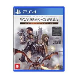 Sombras da guerra Defitive Edition - Midia física - Novo PS4 - Lacrado