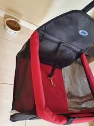 Assento l Cadeira l Cadeirinha Tubline TransPet para Cães e Gatos Vermelho