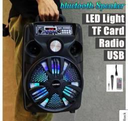 Mega caixa de som completa 1500w com Bluetooth rádio entrada de Microfone