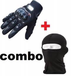 Kit COMBO luva motoqueiro + touca balaclava