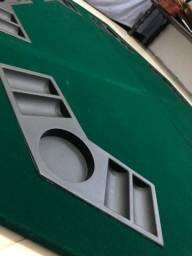 Título do anúncio: Tabuleiro dobrável de mesa Poker com porta copos.
