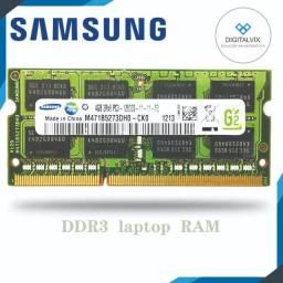 Memória Notebook   Samsung - 4GB DDr3 1333Mhz / (NOVO! - Garantia   1 ano)
