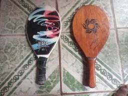 Raquete de madeira e de fibra ZAP *
