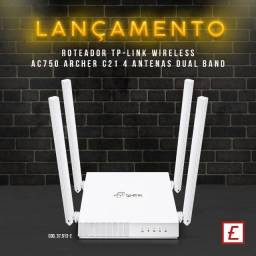 Roteador Wireless C/4 Antenas Dual Band 750Mbps Archer C21 TP Link
