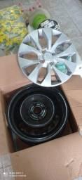 4 rodas 15 de ferro e 4 Carlota original Chevrolet