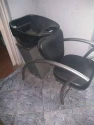 Cadeira de barbeiro Ferranti / lavatório