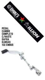 pedal cambio completo c/haste dafra kansas 150