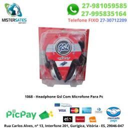 1068 - Headphone Gsl Com Microfone Para Pc