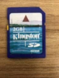 Cartão de memória sd de 2gb Kingston usado