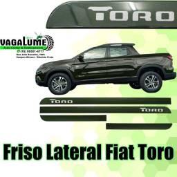 Jogo de Friso Lateral - Fiat Toro Verde