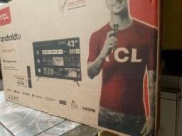 Smart tv semp tcl  43 polegadas android na caixa