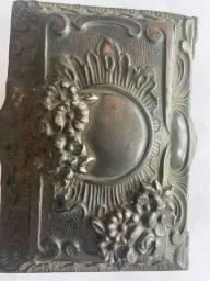 Antiga caixa joia bronze
