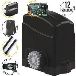Kit Motor Agl p/ portão ate 500k 1/4cv 3m Cremalheira 2 Controles