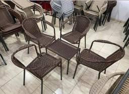 Conjunto de pátio fibra sintética 4 cadeira