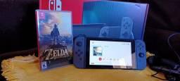 Nintendo Switch com Zelda BOTW.