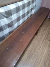 Vendo banco de madeira 3m com encosto