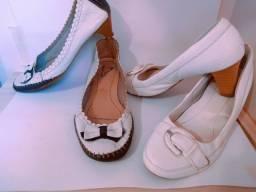 Sapatos em perfeito estado. R$ 50 os dois.