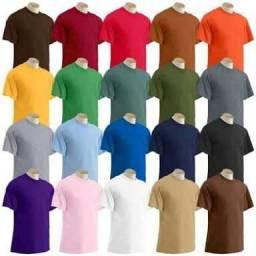 Camisetas Básica 100% Algodão - Lisas e Personalizadas cd621b3356030