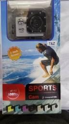 Câmera Filmadora Sportcam HD A Prova Dágua Nova! + Acessórios