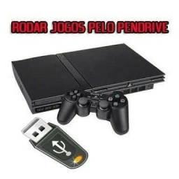 Faço PS2 rodar com jogos via pendrive