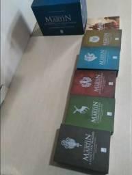 Coleção box AS CRÔNICAS DE GELO E FOGO + o cavaleiro dos sete reinos
