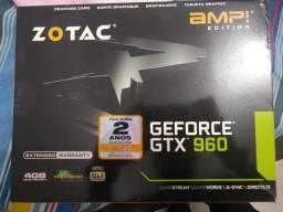 Placa de video zotac AMP Gtx 960 4gb