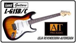 Guitarra Land L-G1 Sunburst/C c/alavanca 3 captadores singles tipo Fender Strato nova Loja