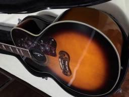 Violao Gibson J200 chines com case acessorios regulado 011 top