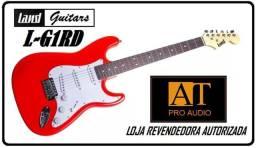 Guitarra Land L-G1 Vermelha c/alavanca 3 captadores singles tipo Fender Strato nova Loja!