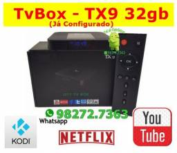 "TX9 Android 9 - 32gb - 4gb Ram- Android 10 ""Configurado"" ( TvBox )"