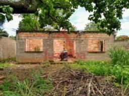 Terreno com casa em construção para venda no bairro vila maria regina, em juatuba   juatub