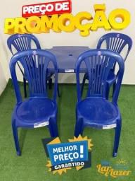 Jogo Plástico de Mesa e Cadeiras Coloridas Tipo Bistrô - 140 Kg