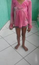 blusa infantil tamanho m (usado)