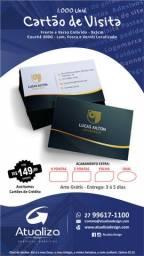 Promoção Cartão de visita - Frente e Verso Colorido
