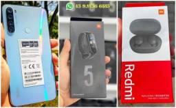 Combo Premium!! Celular Xiaomi Redmi Note 8 64GB + Fone Airdots + Mi Band 5 Originais