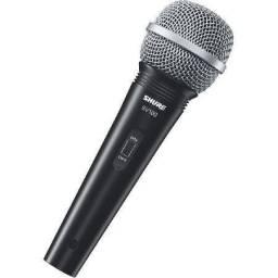 Microfone Profissional Vocal Com Fio 4,5 Metros Sv100 Shure