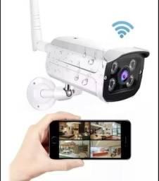 Camera Ip Externa Resistente A Água Wifi Visao Noturna Hd