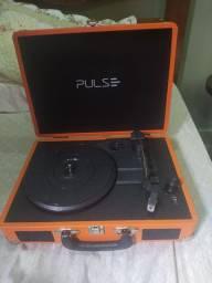 Vitrola Toca discos retro suitcase bluetooth Pulse
