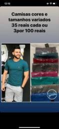 Camisas masculina lisa e com estampas