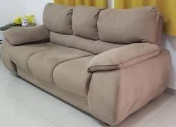 Vendo sofá 3 lugares em suede