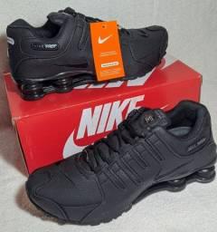 Tenis Preto Nike Shox Nz Eu 4 Molas Caminhada Macio Importado